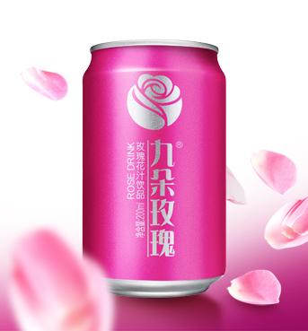 九朵玫瑰玫瑰花汁饮料